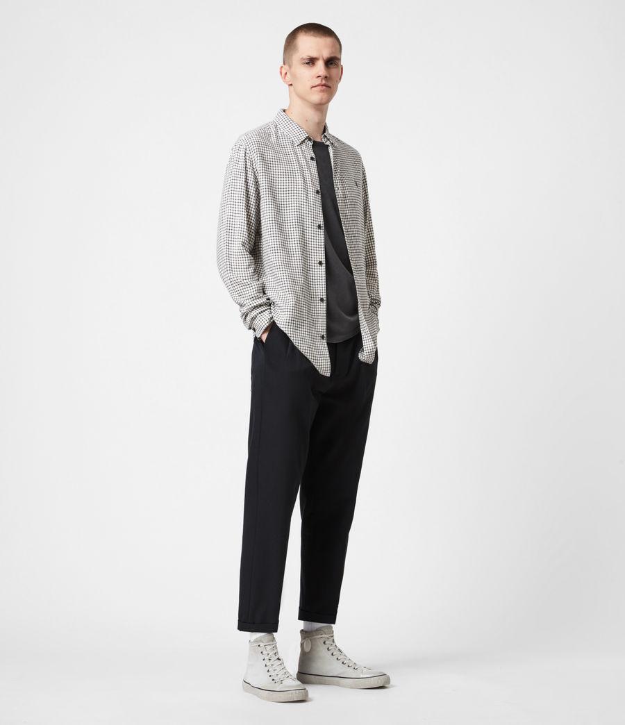 Men's Tilden Shirt (ecru_black) - Image 6