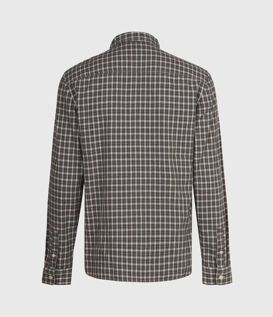 Men's Balcom Shirt (ecru_oxblood) - Image 3
