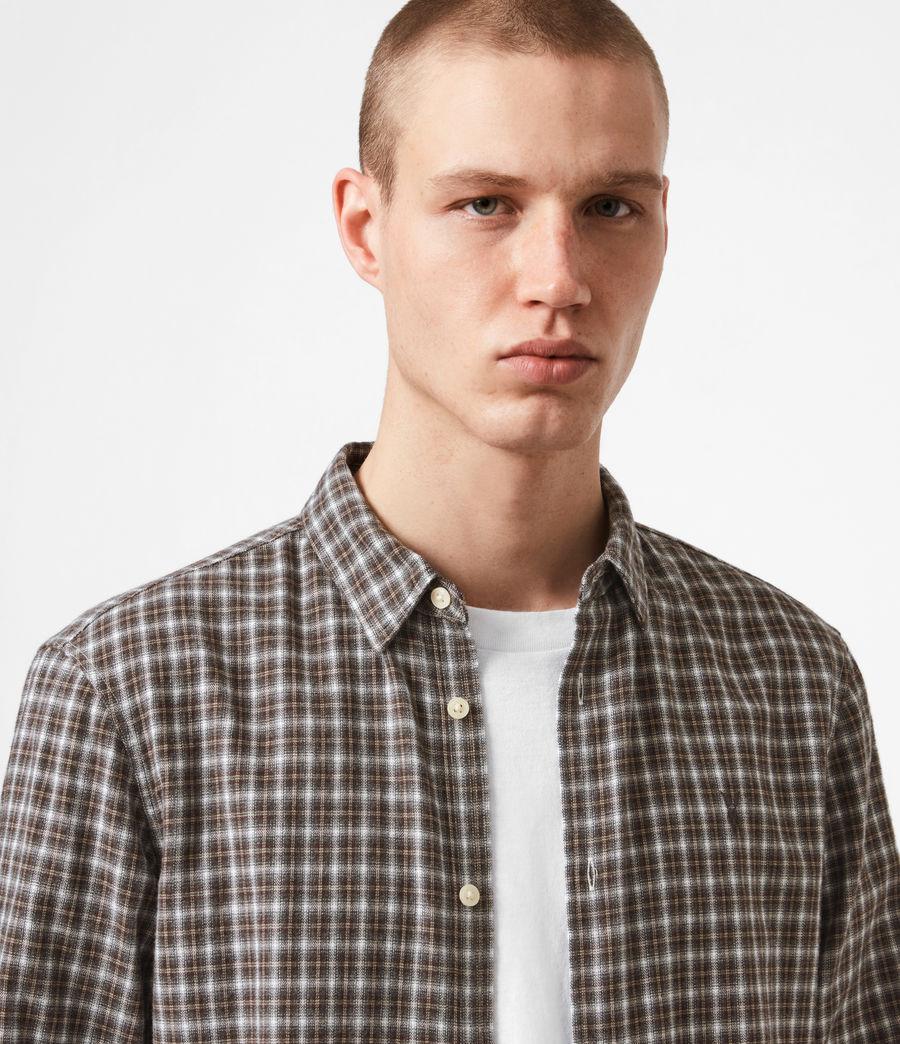 Men's Balcom Shirt (ecru_oxblood) - Image 4