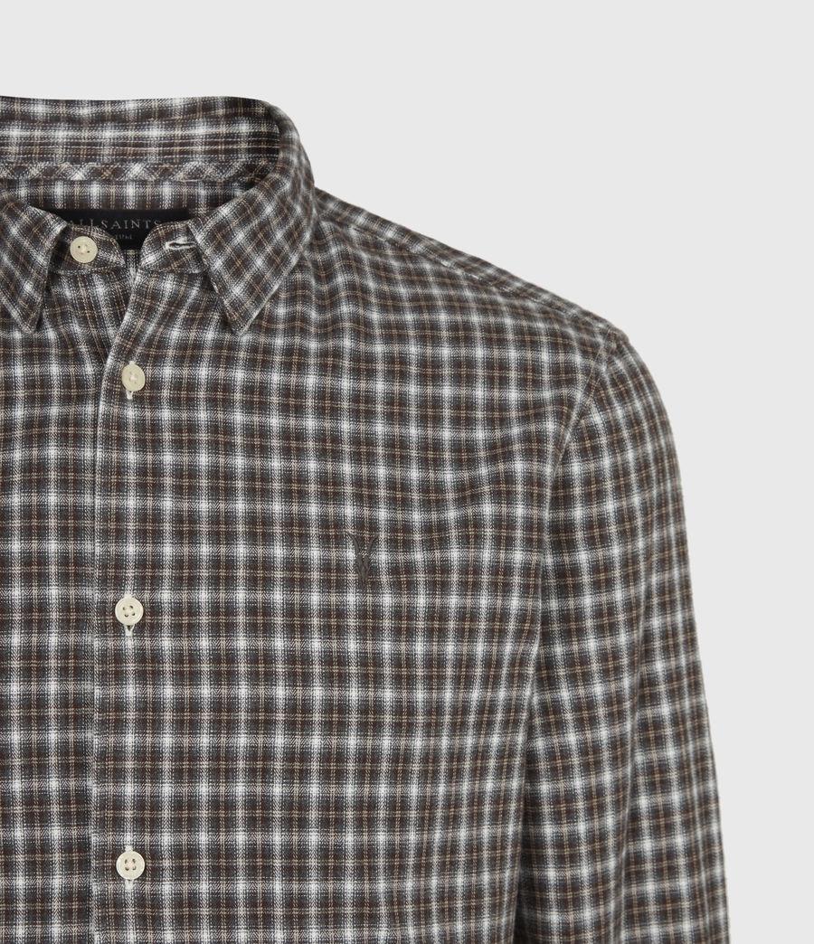 Men's Balcom Shirt (ecru_oxblood) - Image 5