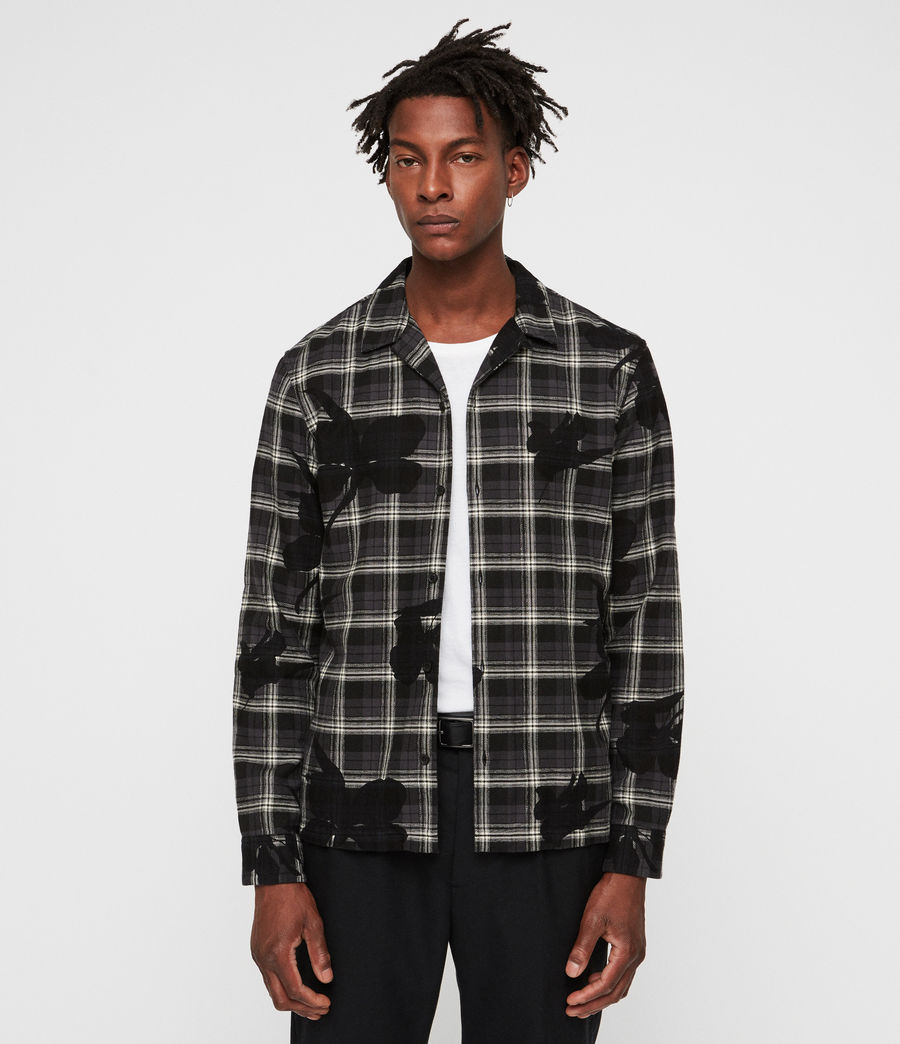 Mens Lilyplaid Shirt (black) - Image 1