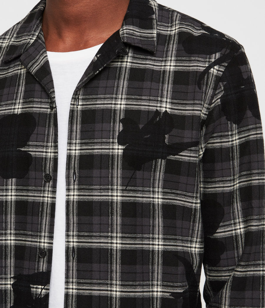 Men's Lilyplaid Shirt (black) - Image 2