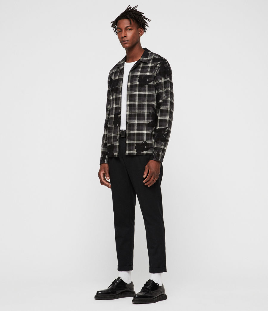 Mens Lilyplaid Shirt (black) - Image 3