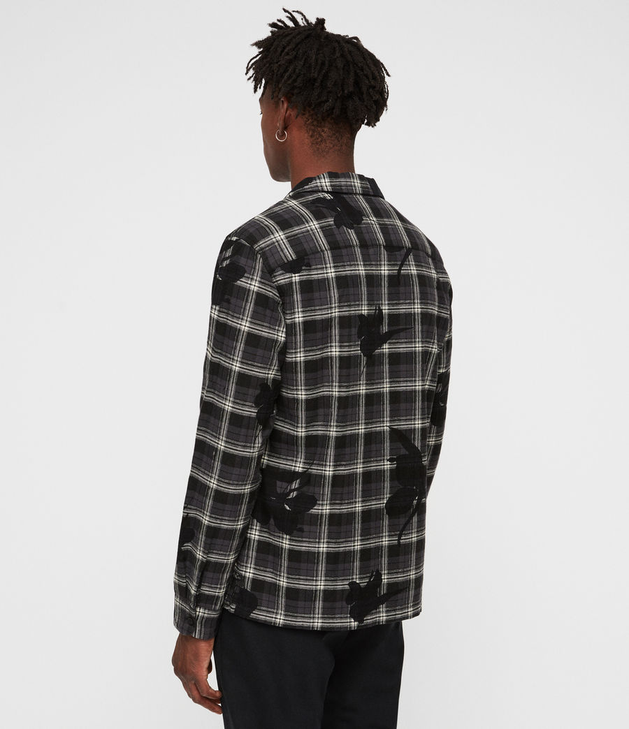 Mens Lilyplaid Shirt (black) - Image 5