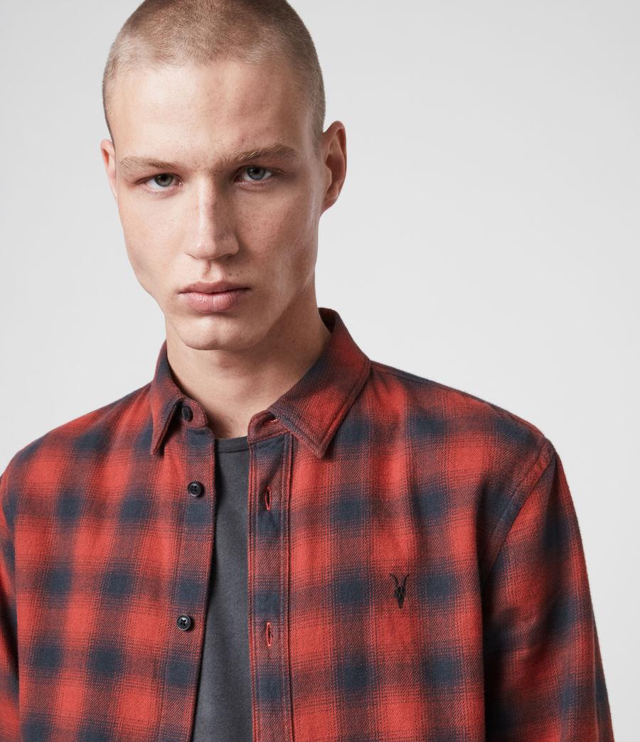 Uomo Camicia Catalpa - Slim in cotone a quadri (oxide_red) - Image 2