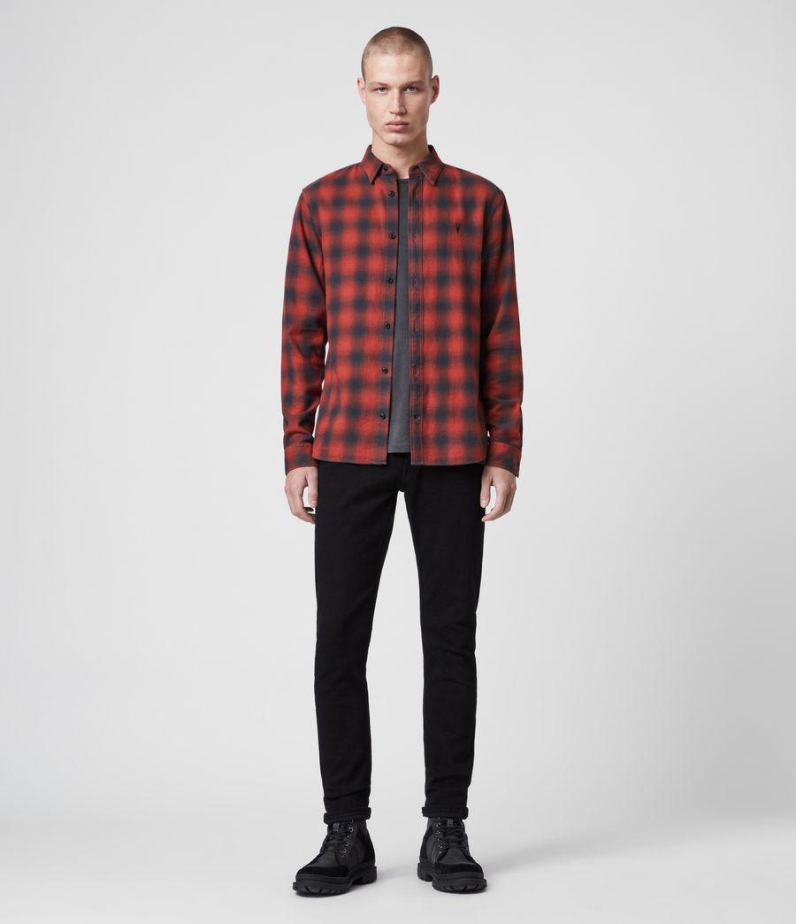 Uomo Camicia Catalpa - Slim in cotone a quadri (oxide_red) - Image 3