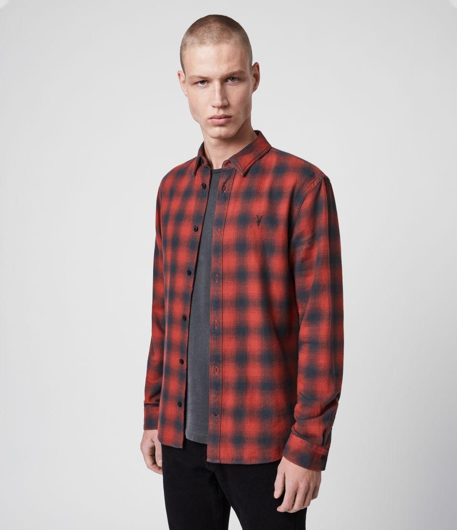 Uomo Camicia Catalpa - Slim in cotone a quadri (oxide_red) - Image 4