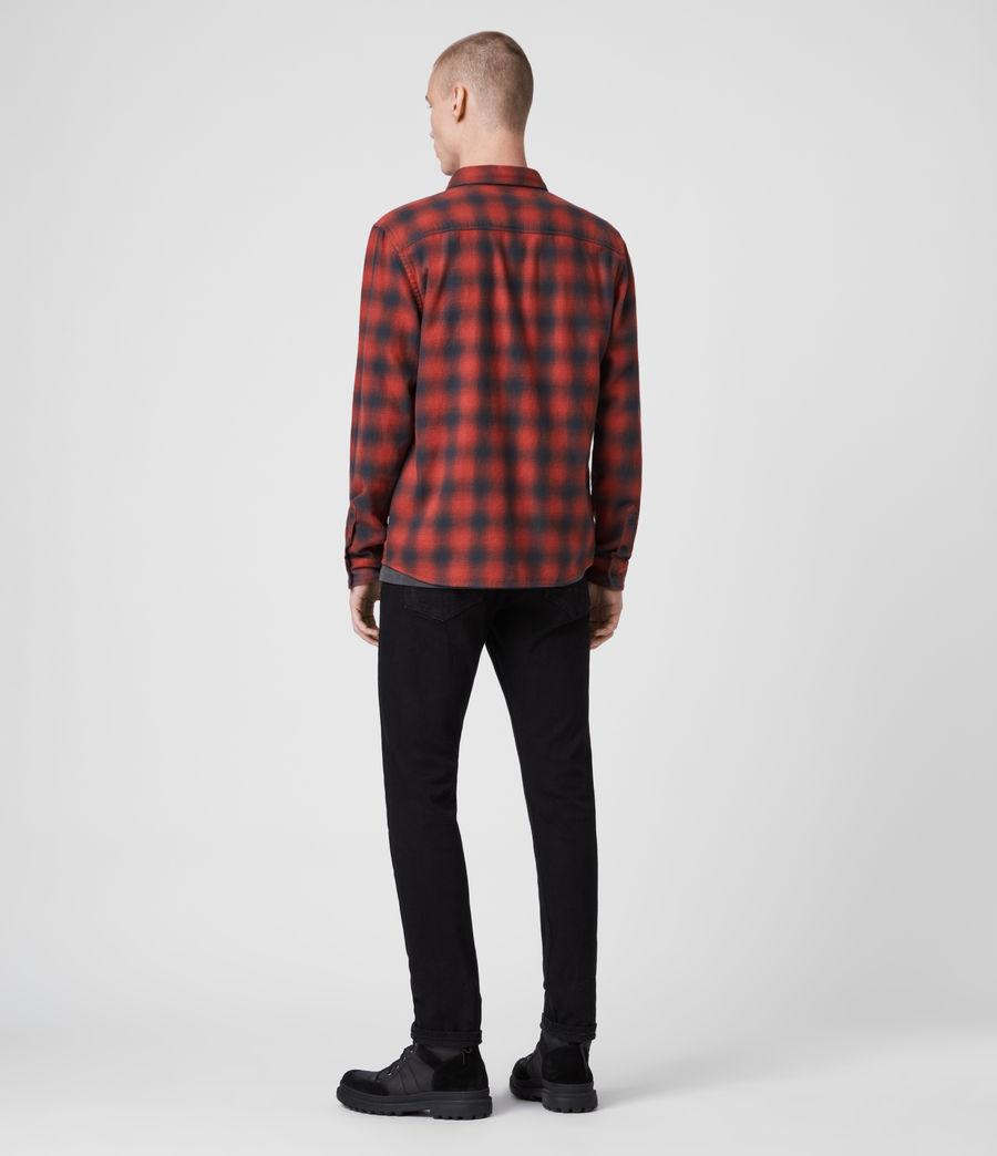 Uomo Camicia Catalpa - Slim in cotone a quadri (oxide_red) - Image 5