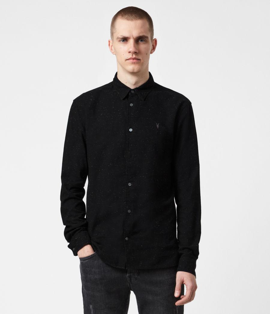 Mens Petrel Shirt (black_white) - Image 1