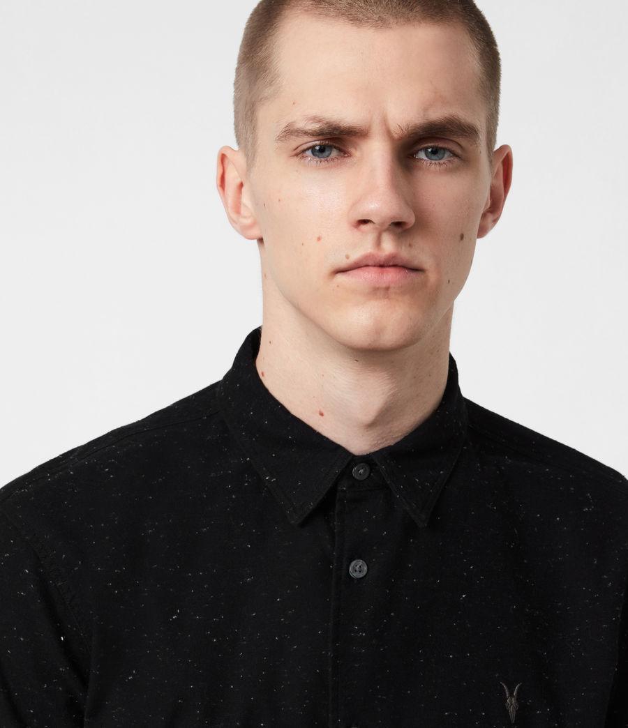 Mens Petrel Shirt (black_white) - Image 4
