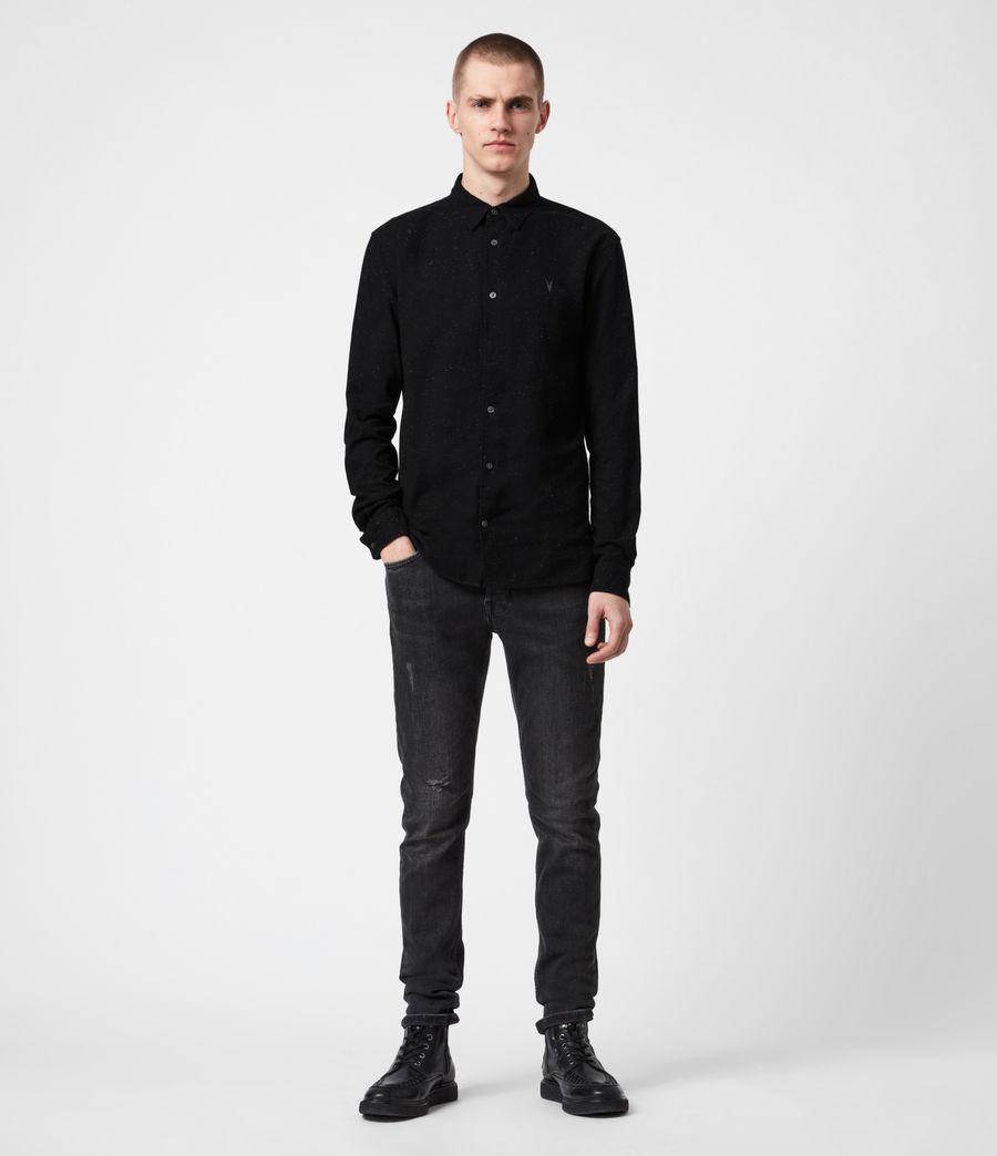 Mens Petrel Shirt (black_white) - Image 6