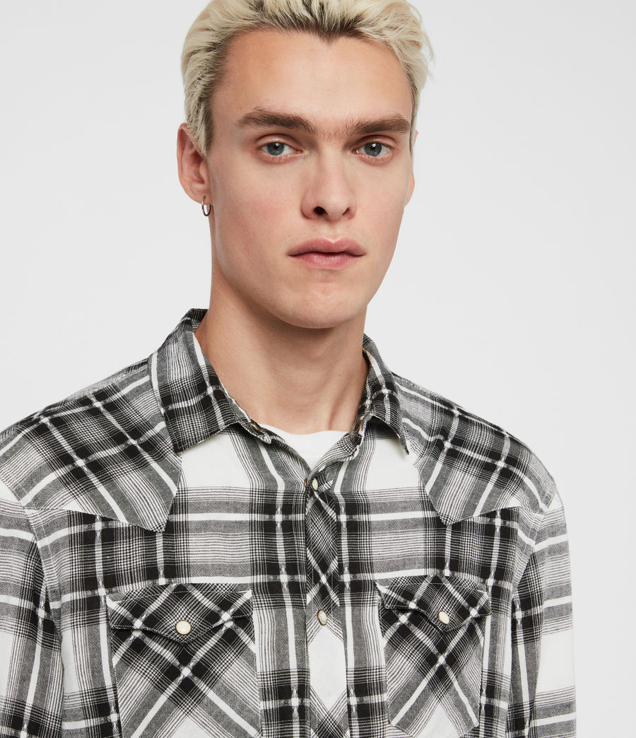 Men's Lonesome Shirt (ecru_black) - Image 2