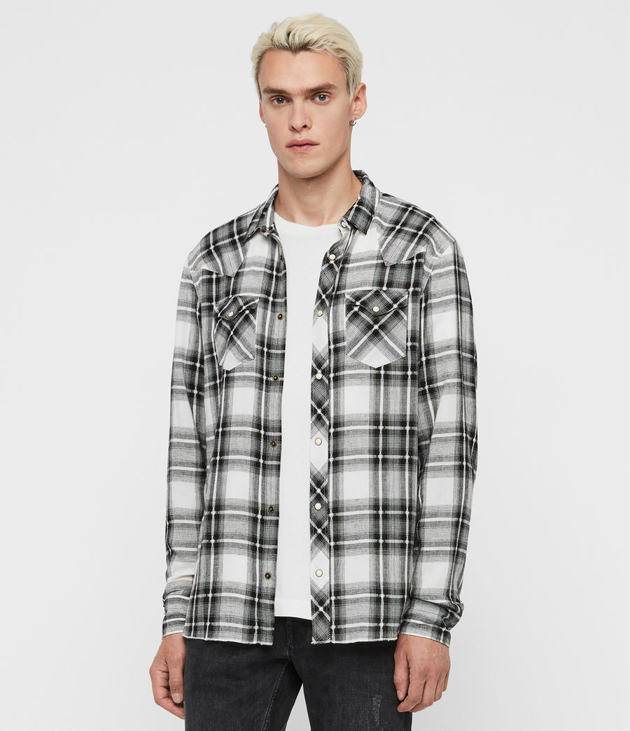Men's Lonesome Shirt (ecru_black) - Image 3