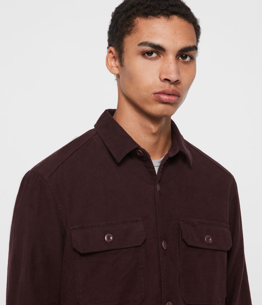 Mens Humboldt Shirt (oxblood_red) - Image 2