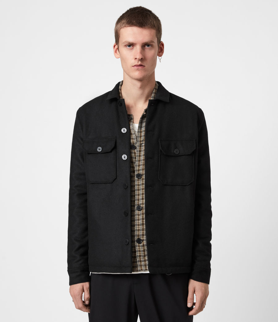 Men's Potomac Wool Blend Shirt (jet_black) - Image 1