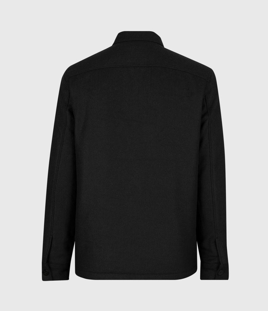 Men's Potomac Wool Blend Shirt (jet_black) - Image 3