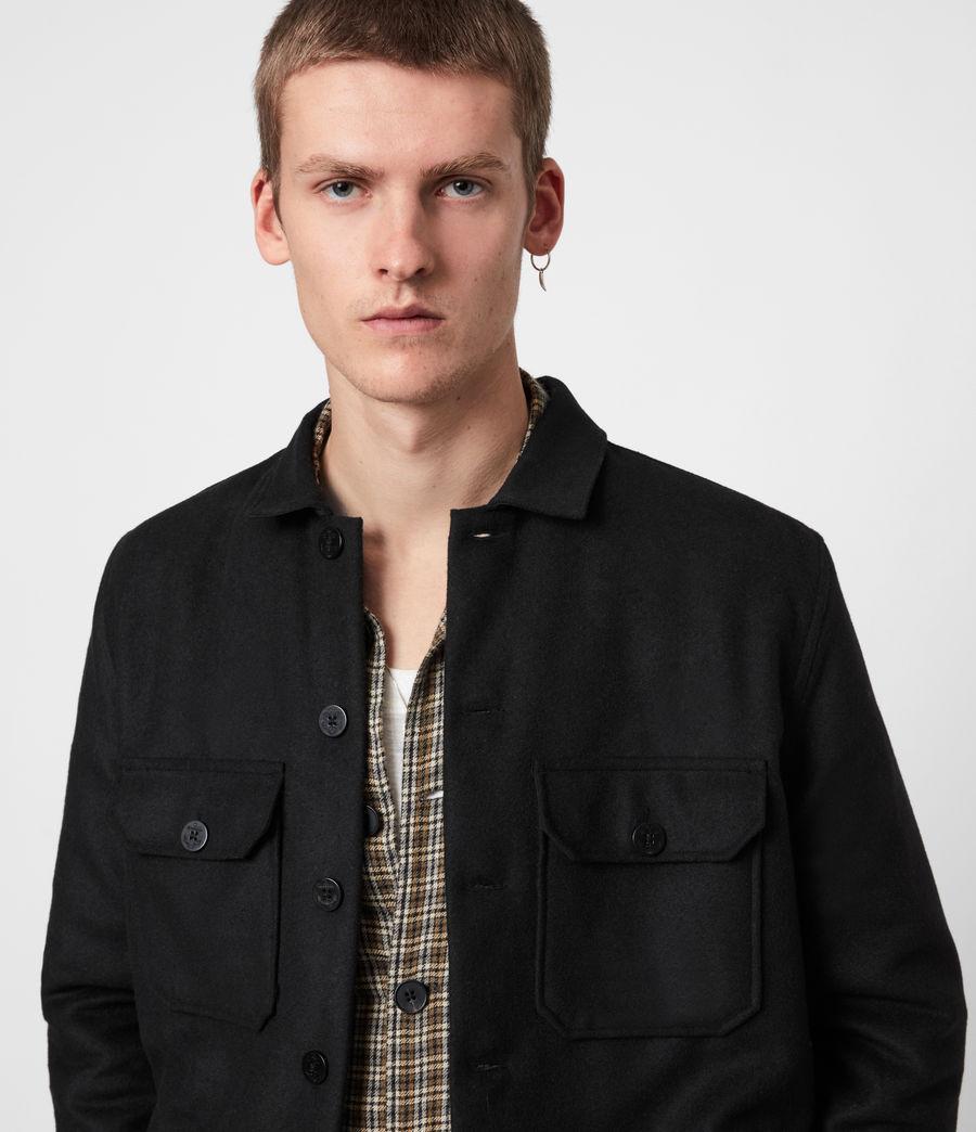 Men's Potomac Wool Blend Shirt (jet_black) - Image 4