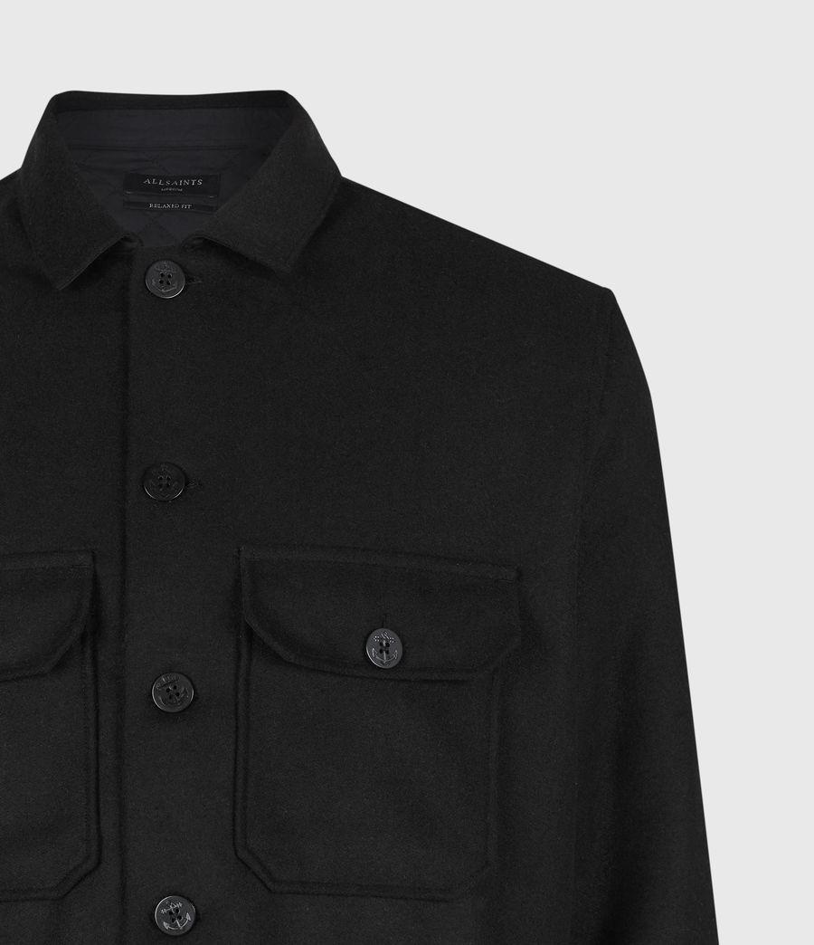 Men's Potomac Wool Blend Shirt (jet_black) - Image 5