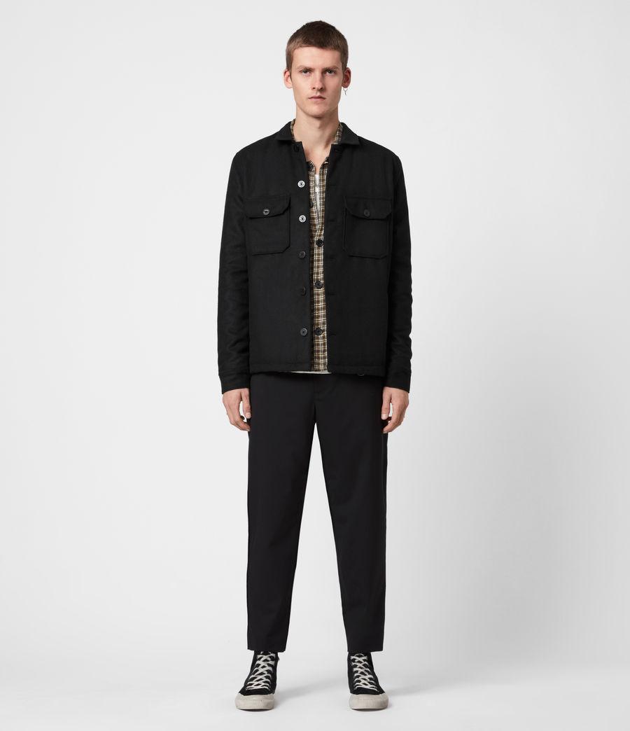 Men's Potomac Wool Blend Shirt (jet_black) - Image 6