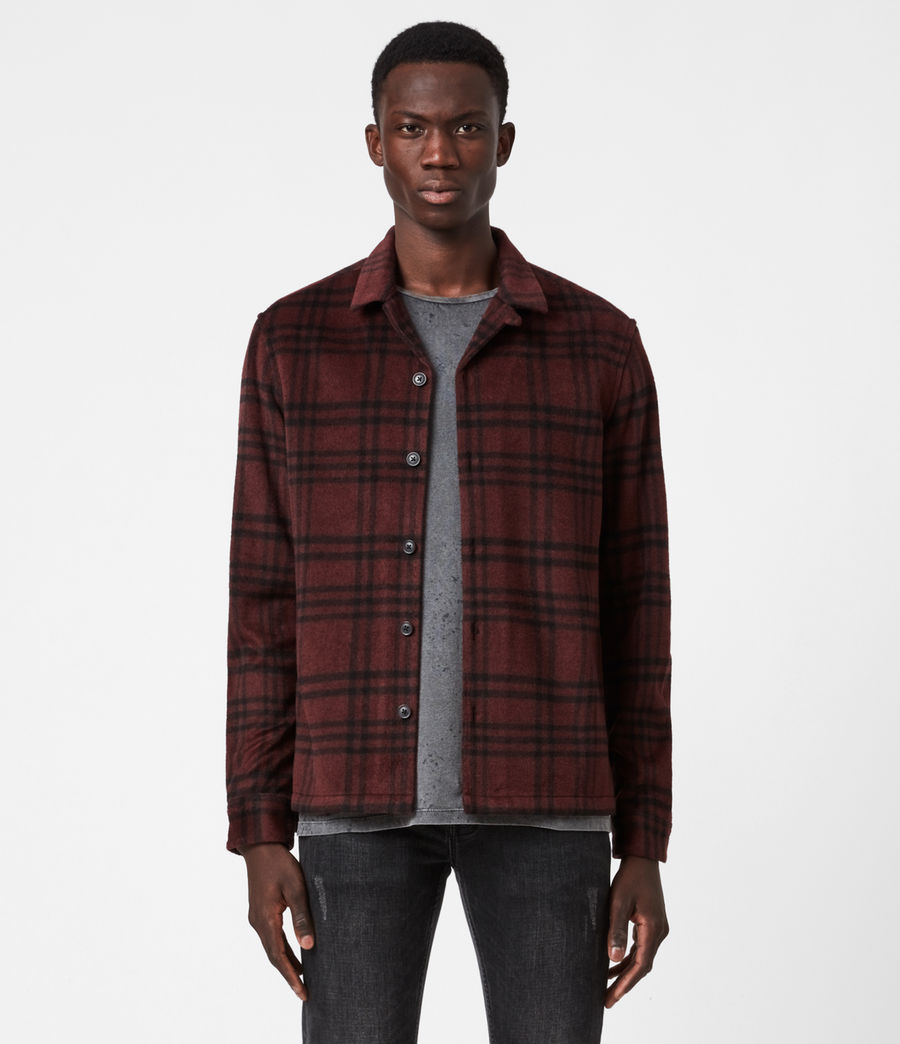 Men's Zenith Shirt (oxblood_rd_jet_blk) - Image 1