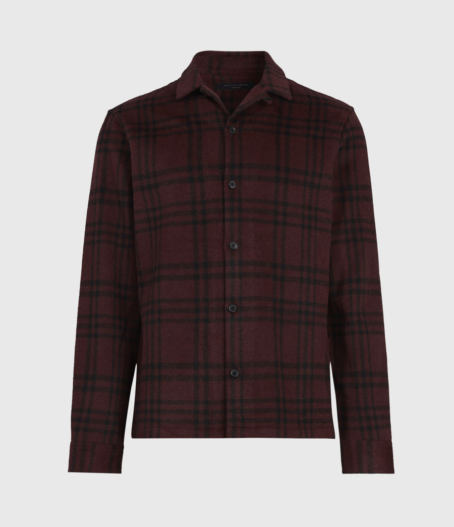 Men's Zenith Shirt (oxblood_rd_jet_blk) - Image 2