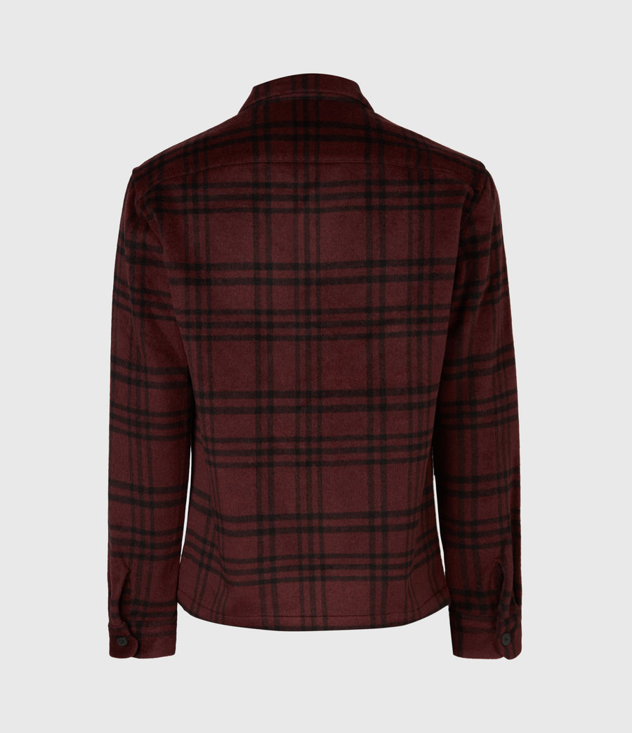 Men's Zenith Shirt (oxblood_rd_jet_blk) - Image 3