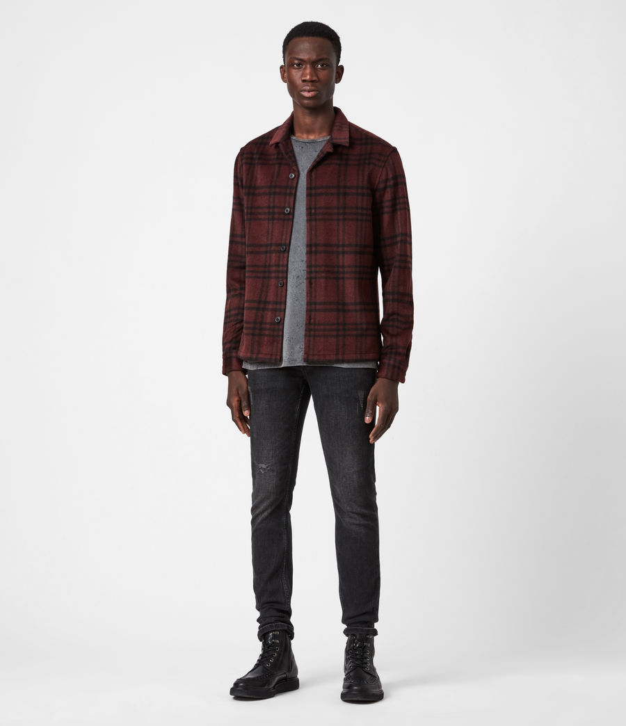 Men's Zenith Shirt (oxblood_rd_jet_blk) - Image 4