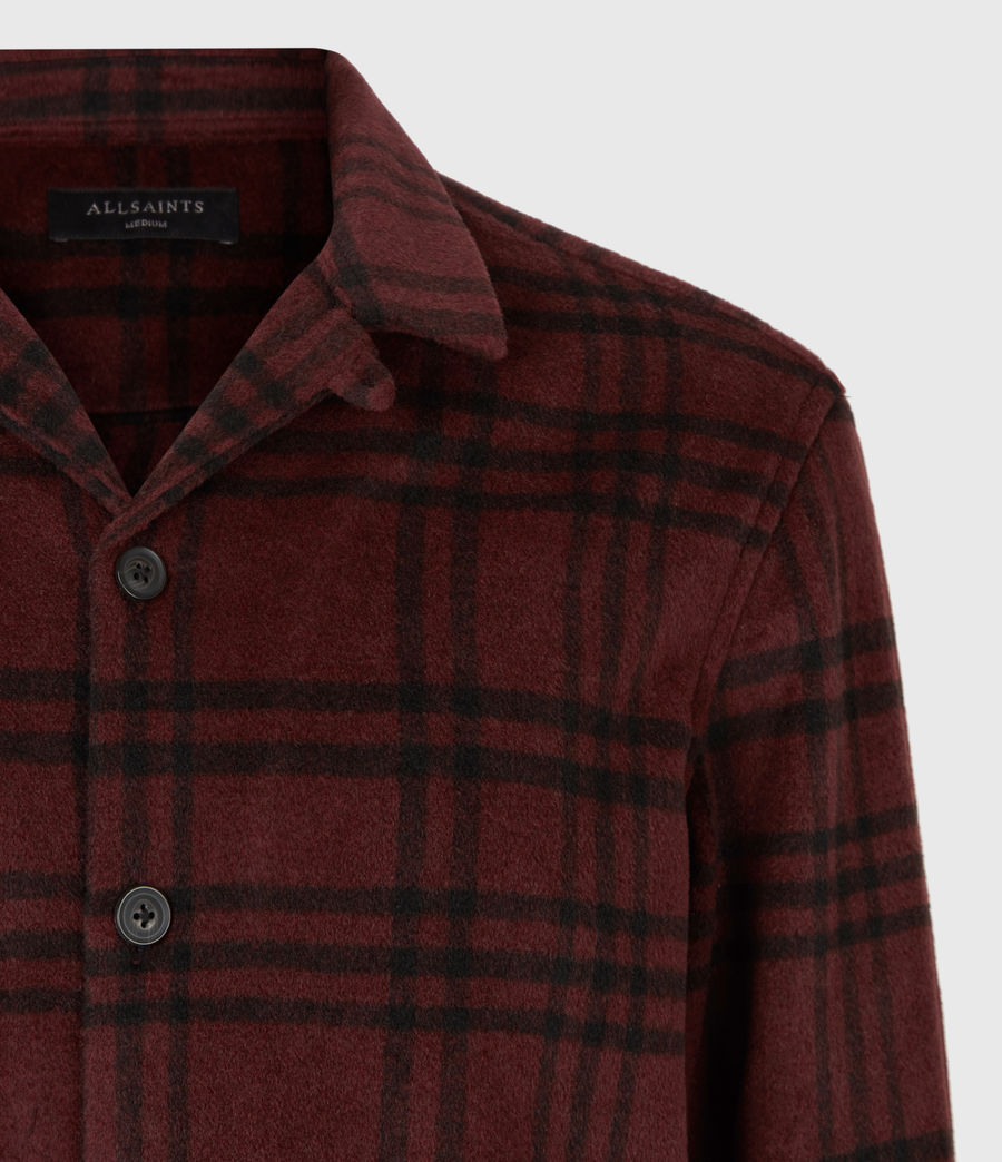 Men's Zenith Shirt (oxblood_rd_jet_blk) - Image 5