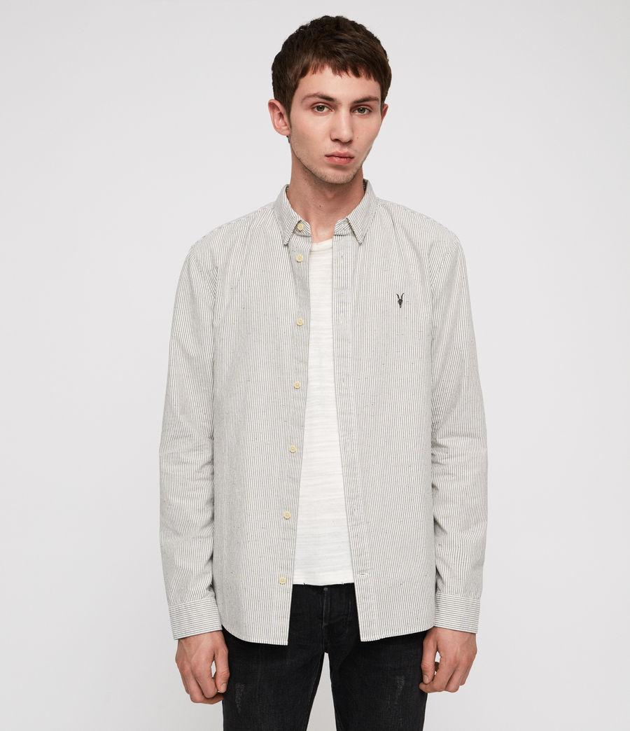 Men's Delmont Shirt (white_blue_stripe) - Image 1