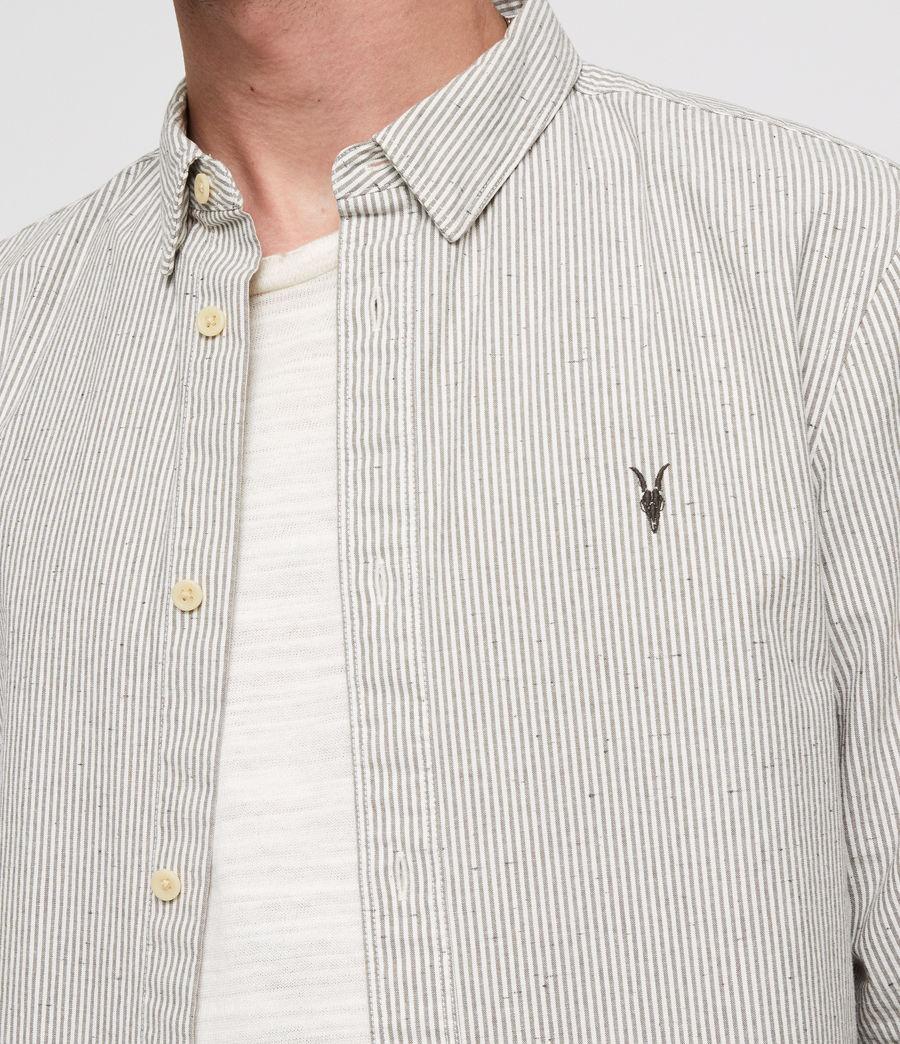 Men's Delmont Shirt (white_blue_stripe) - Image 2