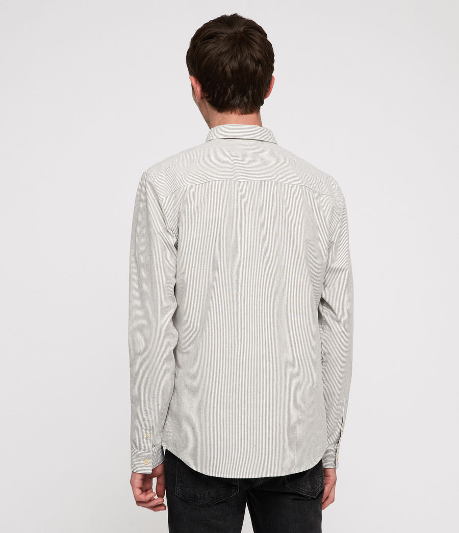 Men's Delmont Shirt (white_blue_stripe) - Image 4