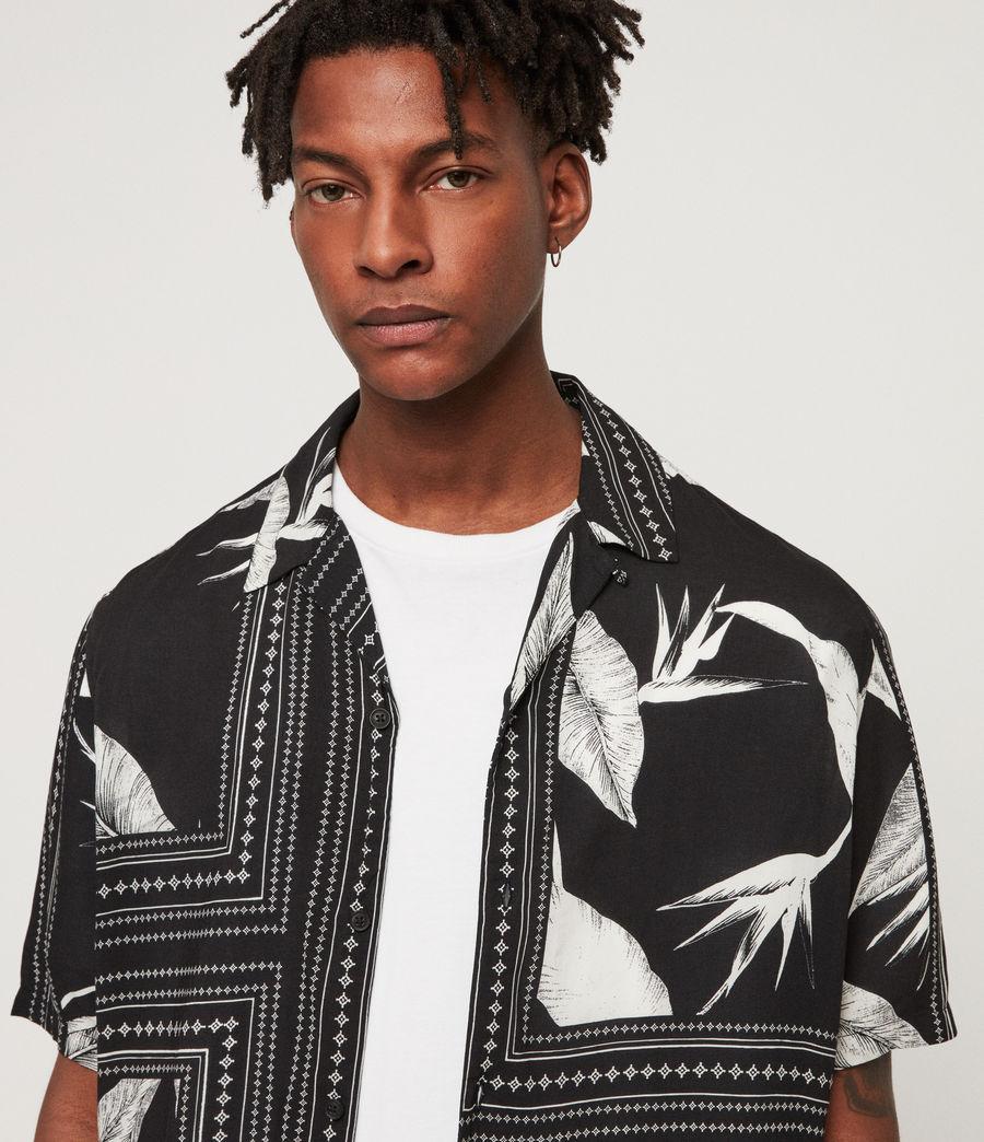 Men's Border Shirt (black_ecru_white) - Image 2