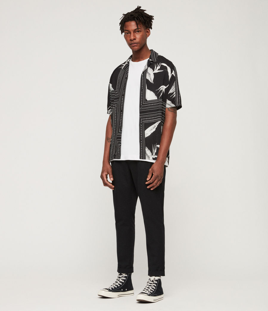 Men's Border Shirt (black_ecru_white) - Image 3