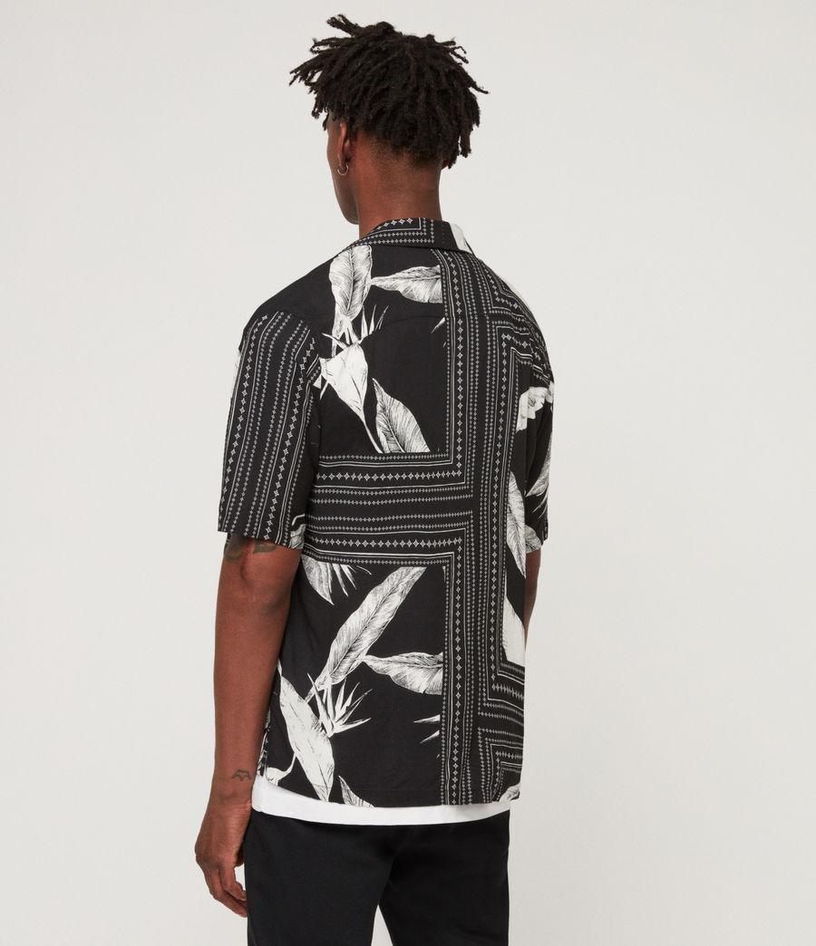 Men's Border Shirt (black_ecru_white) - Image 4