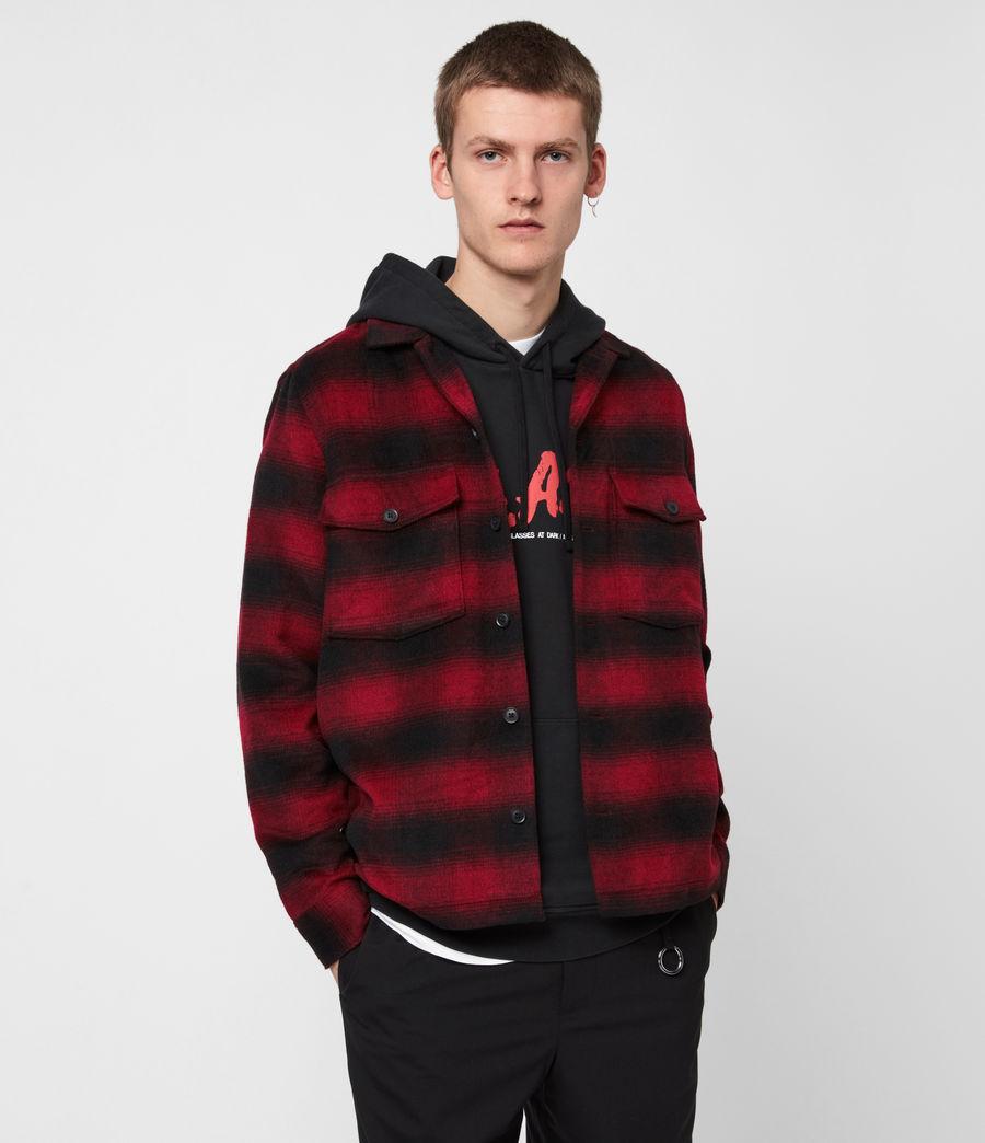 Men's Bethune Wool Blend Shirt (red_black) - Image 1