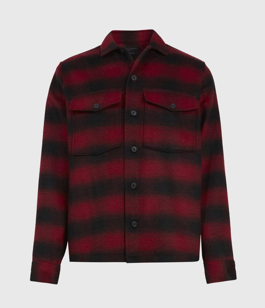 Men's Bethune Wool Blend Shirt (red_black) - Image 2