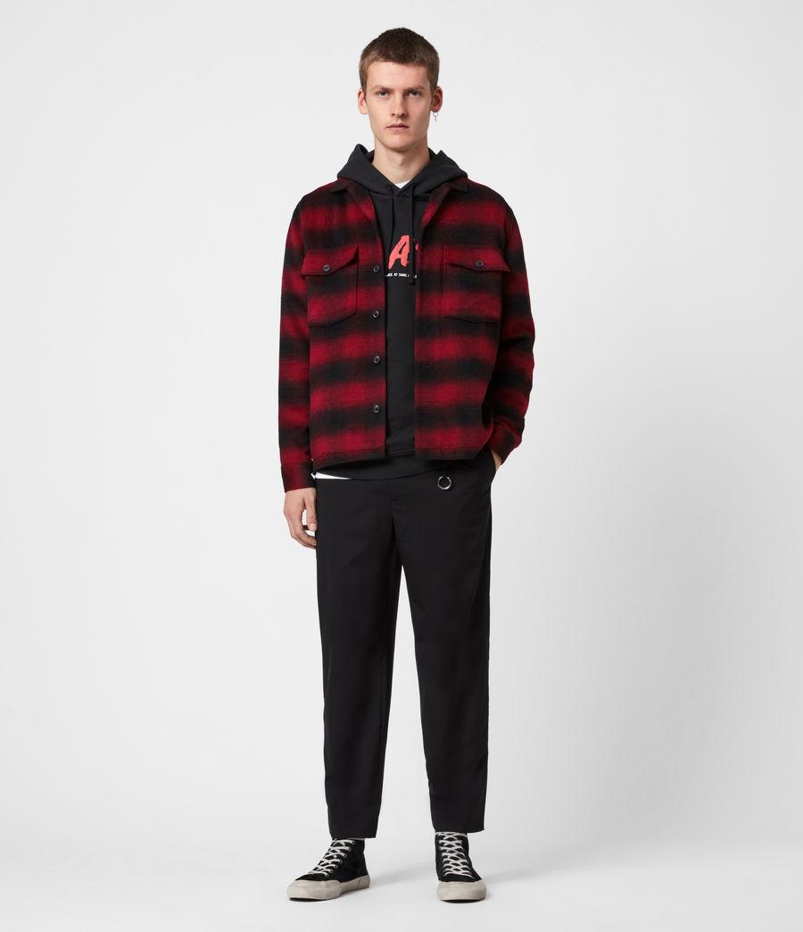 Men's Bethune Wool Blend Shirt (red_black) - Image 4