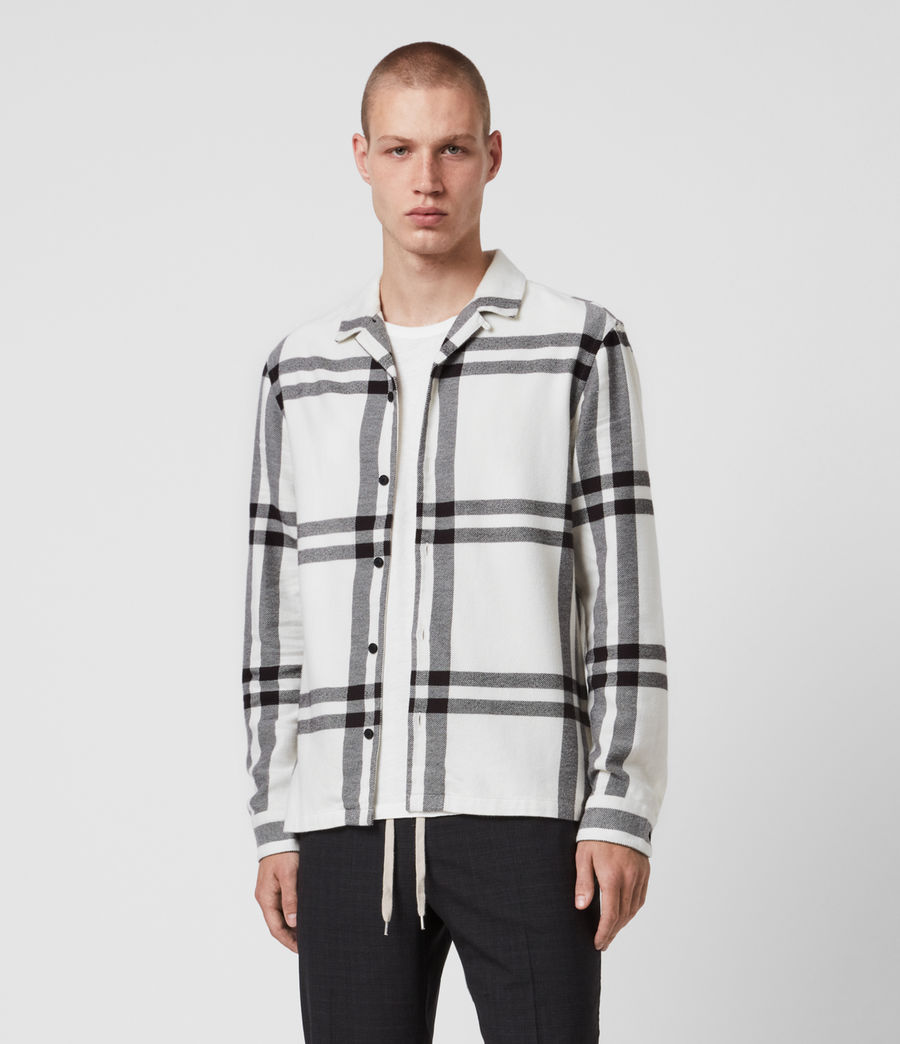 Mens Anchorage Shirt (white_black) - Image 1