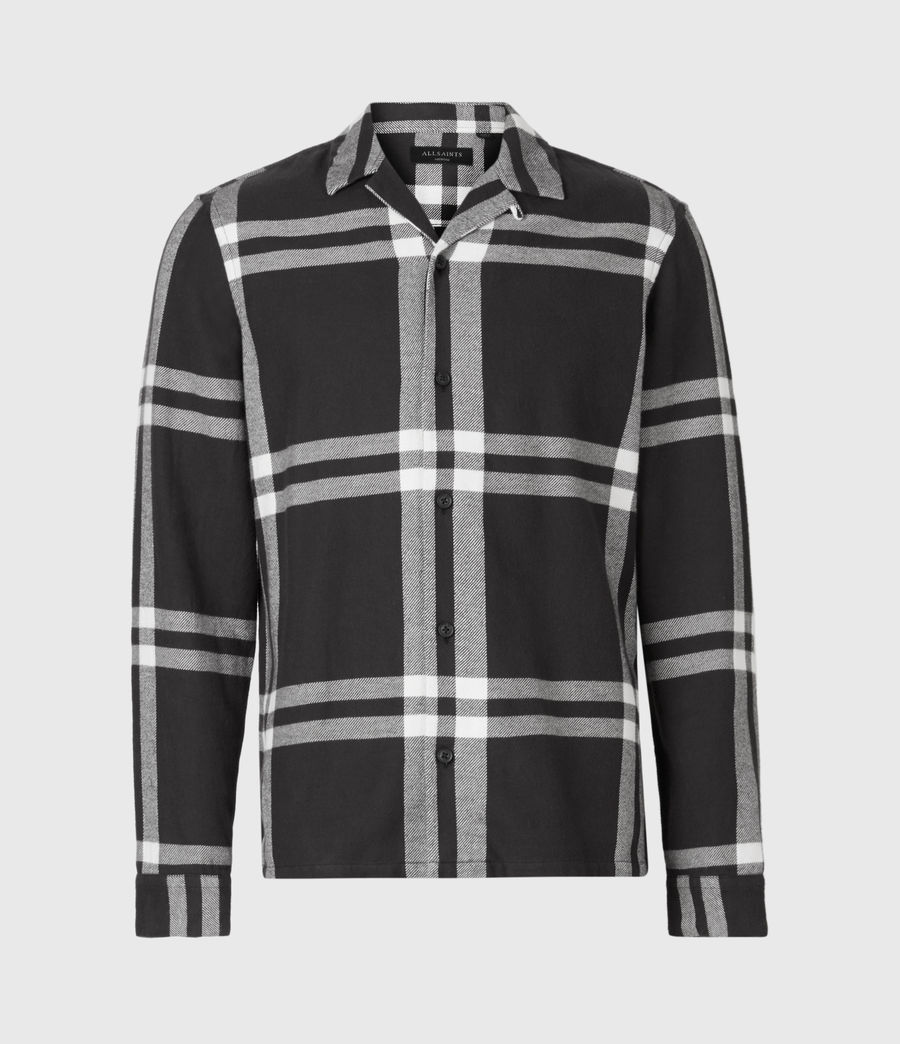 Mens Anchorage Shirt (black_white) - Image 2