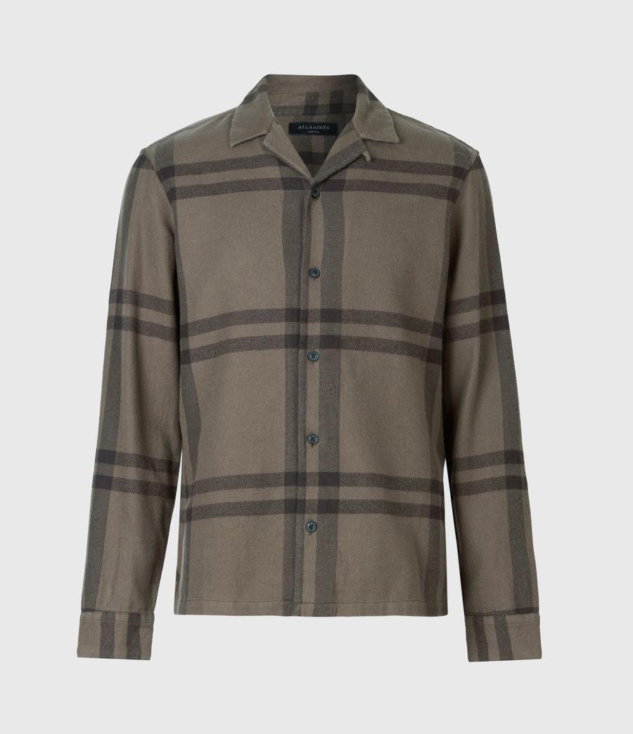 Mens Anchorage Shirt (dark_khaki_black) - Image 2