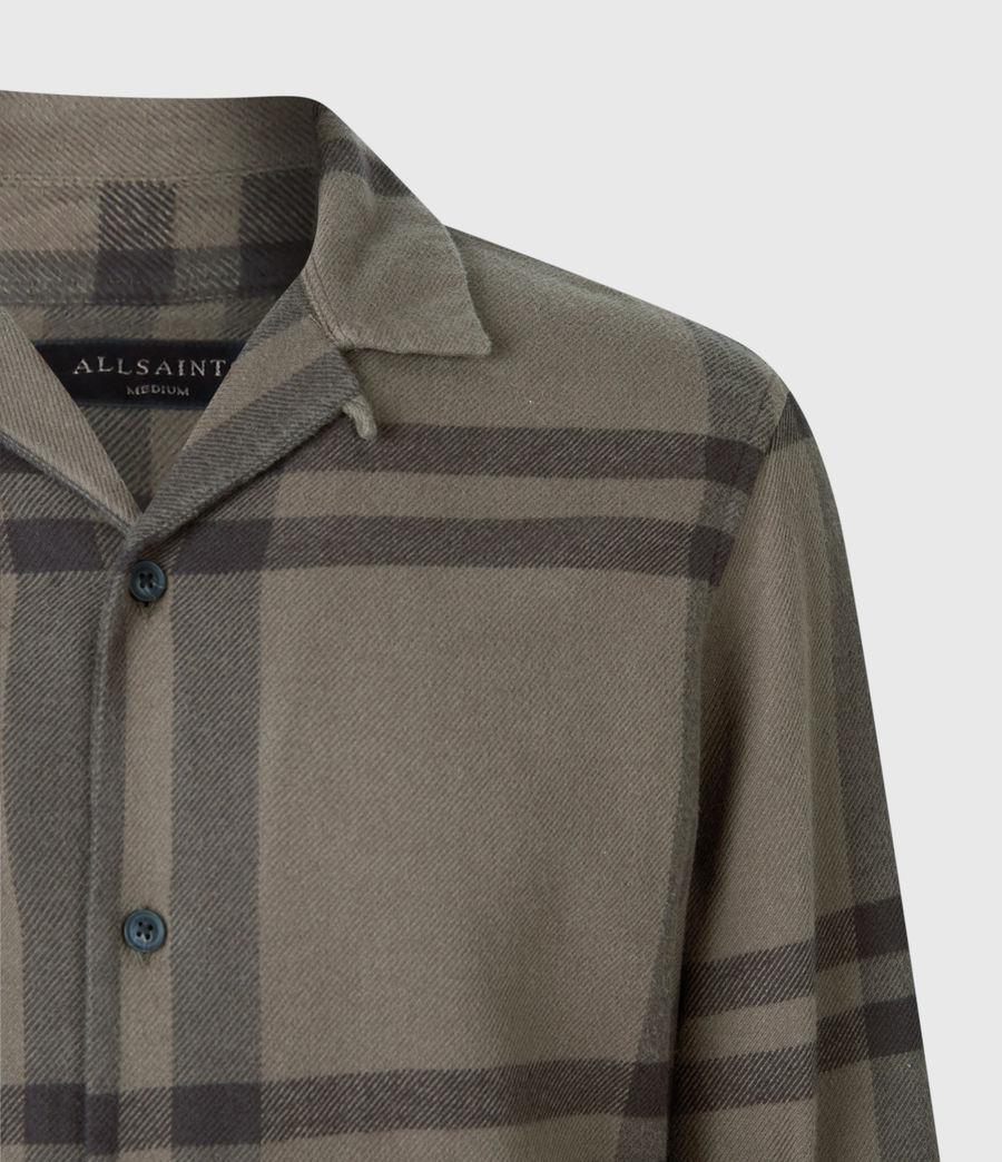 Mens Anchorage Shirt (dark_khaki_black) - Image 4