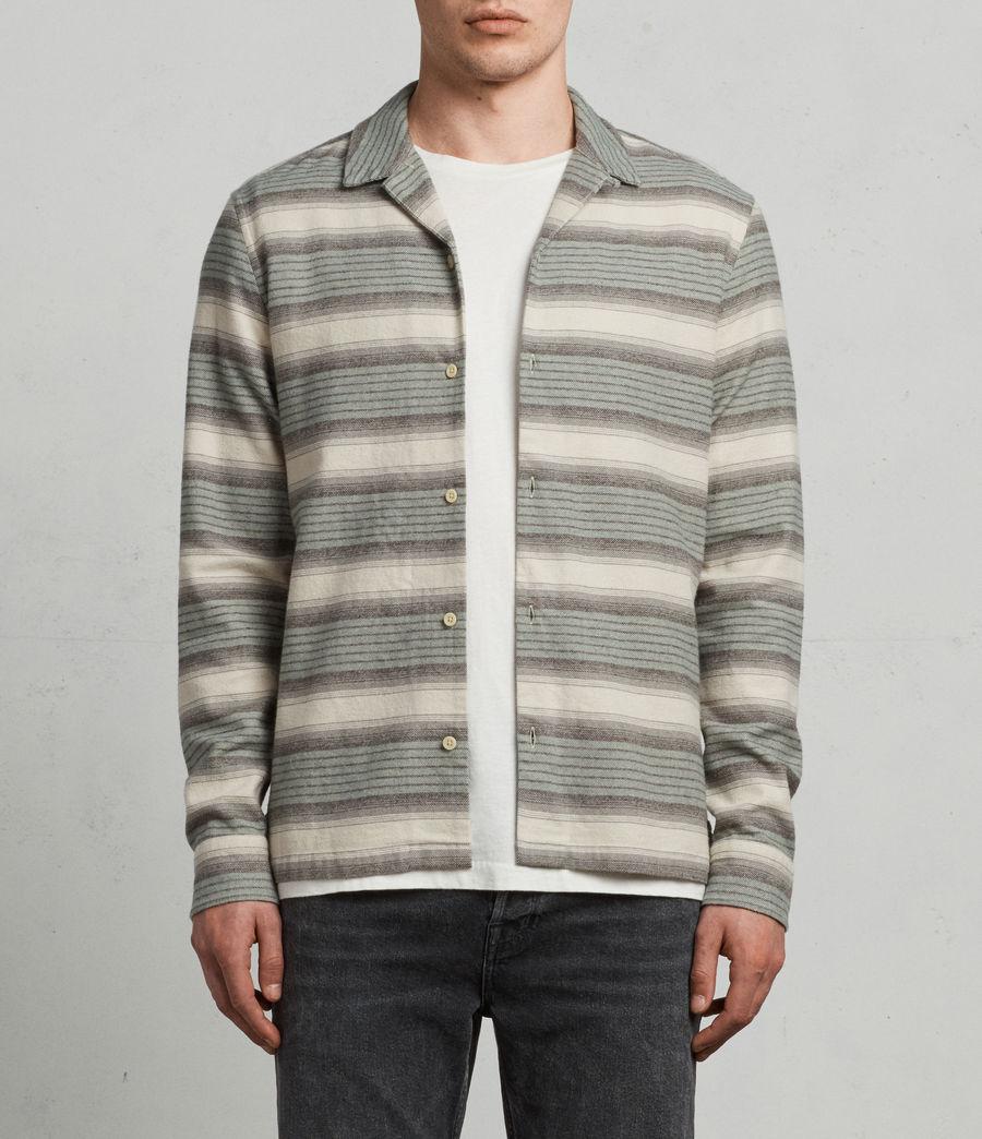 Mens Caspere Long Sleeve Shirt (green) - Image 1