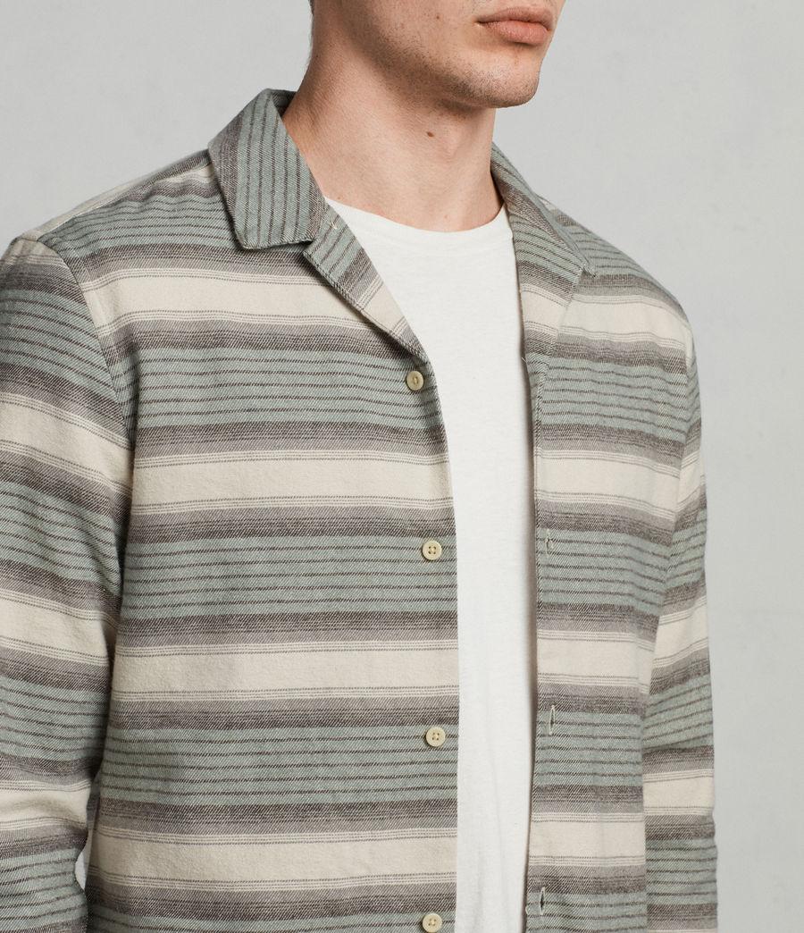 Mens Caspere Long Sleeve Shirt (green) - Image 2