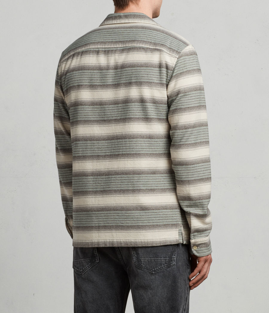 Mens Caspere Long Sleeve Shirt (green) - Image 4