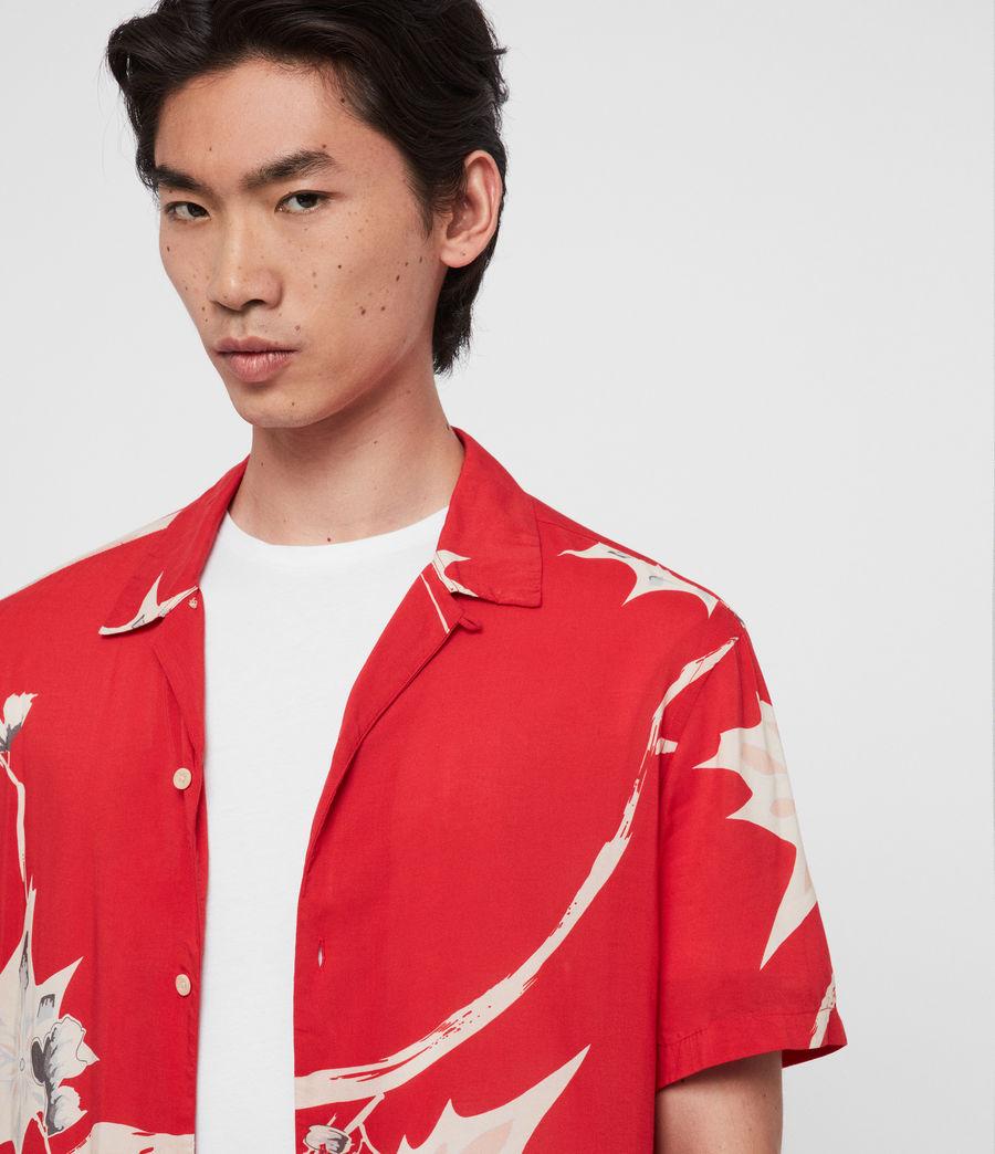Mens Mokapu Shirt (tsuru_red) - Image 2