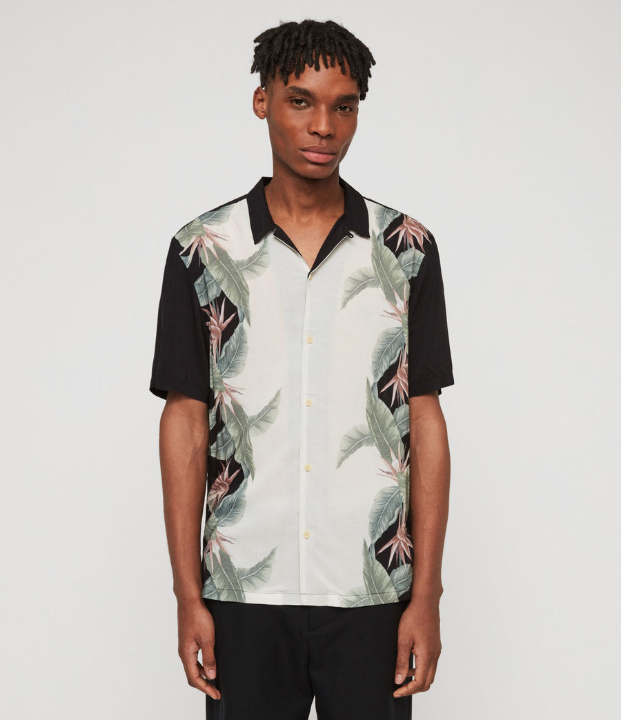 Mens Trellis Shirt (jet_black) - Image 1