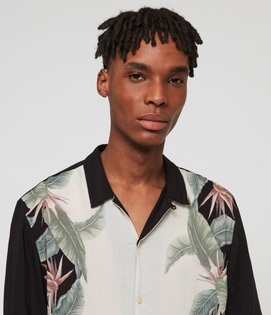 Mens Trellis Shirt (jet_black) - Image 3