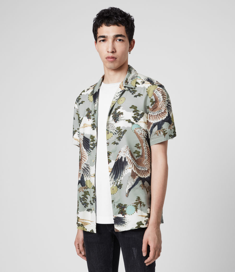 Mens Descent Short Sleeve Shirt (grey) - Image 4