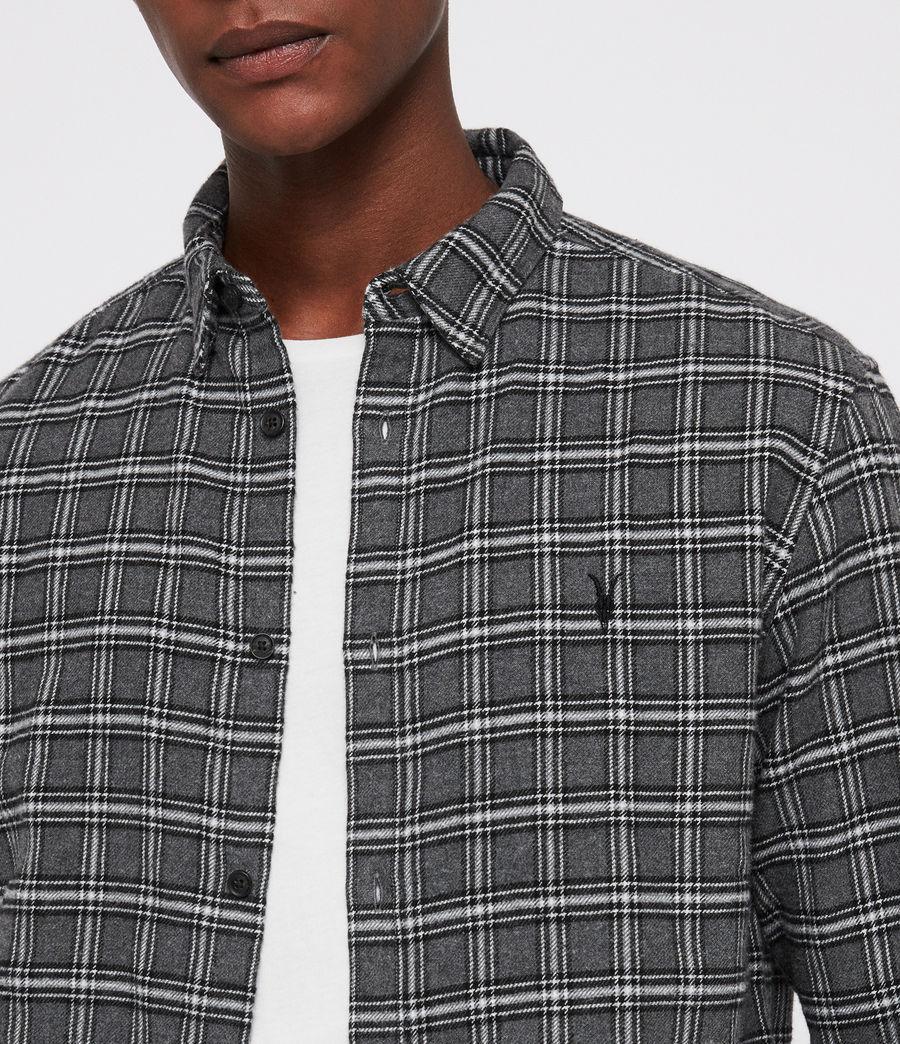 Hombres Camisa Amos (grey_marl) - Image 2