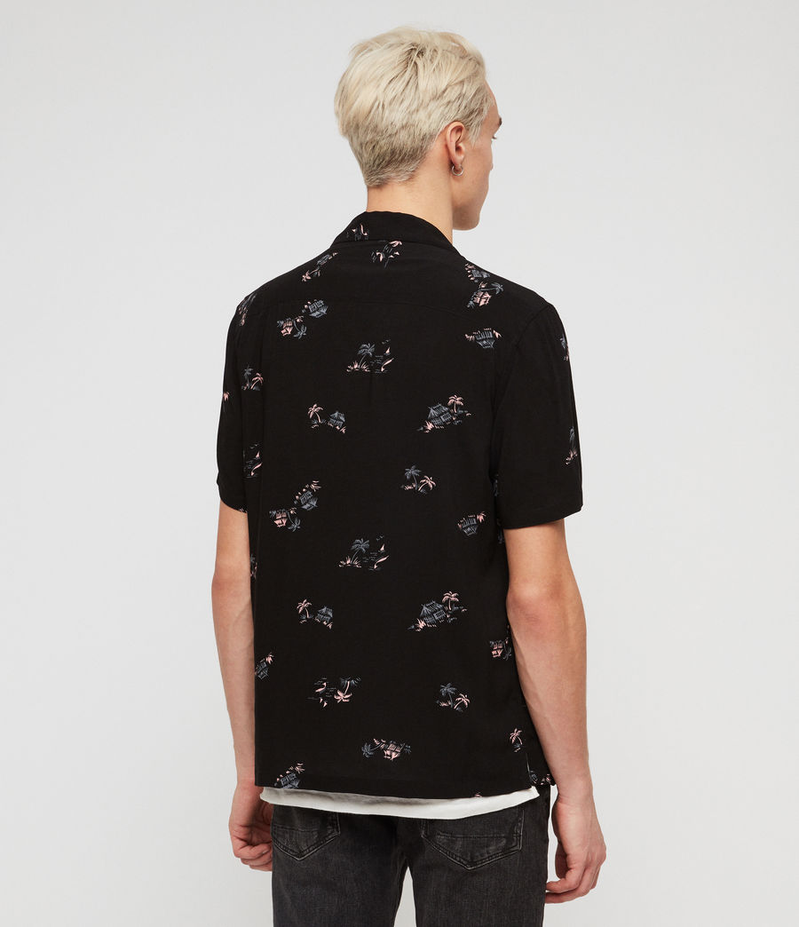 Mens Castaway Shirt (jet_black) - Image 4